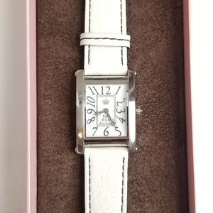 OG Juicy Couture Zoe white leather watch ❤💎✌